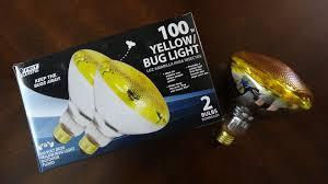 bug light light bulbs feit 100watt br38 bug light flood light bulbs youtube
