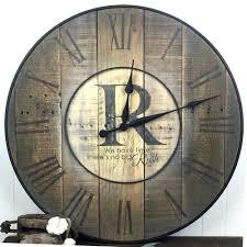 oversized wall clock family name custom handmadelarge movie themed
