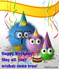 happy birthday may all your wishes come true greeting card on