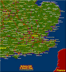 map of east uk map of south east