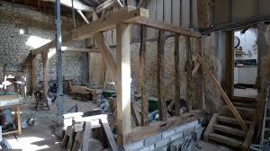 renovation work begins at the barn oak timber framing