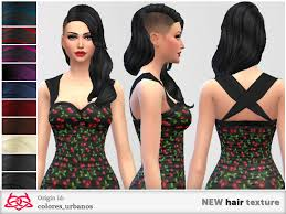 sims 4 custom content hair the sims 4 hair custom content lipstick alley