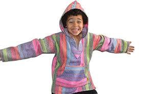 amazon com baja hoodie kids poncho rainbow drug rug sweatshirt