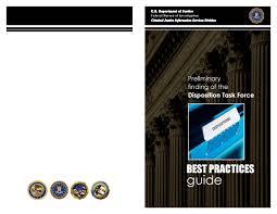 disposition bureau disposition task best practices guide fbi