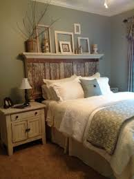rustic chic bedroom design rustic wood nightstand near storage