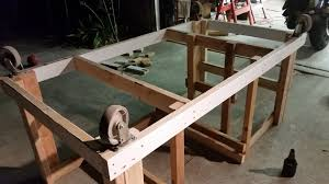 Upside Down Bench Mobile Workbench With Built In Table U0026 Miter Saws Album On Imgur