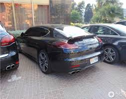 matte black porsche panamera porsche panamera turbo s executive mkii 8 june 2014 autogespot