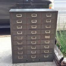 Vintage Metal Storage Cabinet with We Carry Vintage Industrial Multi Drawer Metal Machinist