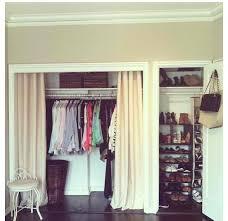 Creative Curtain Hanging Ideas Closet Curtain Door Home Interior Design