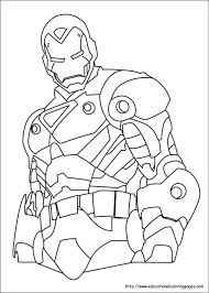 Iron Man Coloring Pages Free For Kids Coloring Page Iron