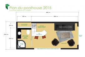 pool house plan plan pool house 20m2 house plans