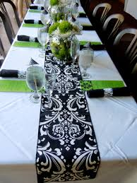 navy and white damask table runners u2022 table runners
