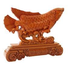 yi mahogany fish ornaments ichthyosaurs lucky wood