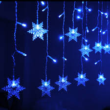 led snowflake transparent silver wire outdoor decoration home