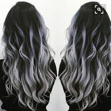black lowlights in white gray hair black to gray silver balayage hair tips hair care pinterest
