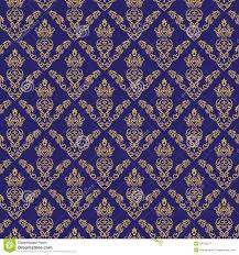 seamless damask wallpaper 2 blue color royalty free stock