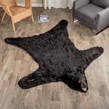 Reindeer Hide Rug Ideas Faux Sheepskin Area Rug Bear Hide Blanket Fake Bear