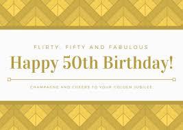 gold u0026 white geometric background 50th birthday greeting card