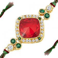buy rakhi online buy exclusive sukkhi appealing gold plated designer kundan rakhi