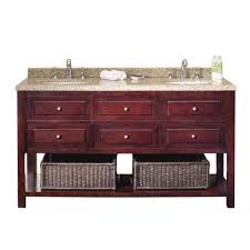 ove decors danny 60 in vanity in mahogany with sand speckled