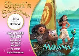 moana birthday invitations kustom kreations