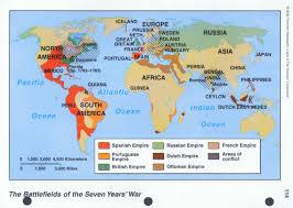 World War 1 Europe Map by Seven Years War