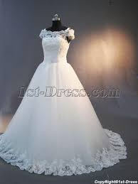 vintage lace off shoulder wedding dress img 2998 1st dress com