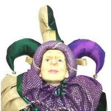 jumbo mardi gras x 19in wide jumbo mardi gras jester doll