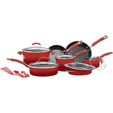best black friday deals on pots and pans rachael ray 15 piece hard enamel nonstick cookware set walmart com