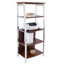 realspace 4 shelf mezza bookcase 60 h x 26 12 w x 17 12 d