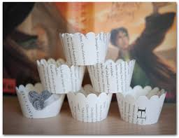 12 cupcake wrappers harry potter book pages wizard