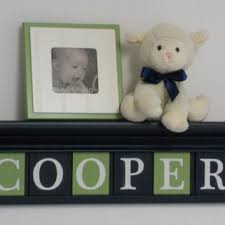 Navy And Green Nursery Decor Best Shelf Letters Decor Products On Wanelo