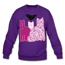 cat sweater miranda crew neck sweatshirt sweatshirt miranda sings