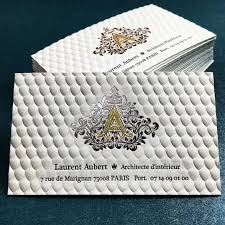 luxury 3d embossed business card with gold foil printing