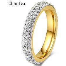girls wedding rings images Chanfar full size clear crystal stainless steel wedding rings jpg