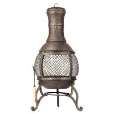 heaters for patio furniture black cast iron chiminea with three legs for patio