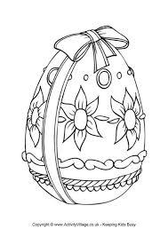 easter egg coloring pages 2 exprimartdesign