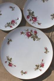 vintage china with pink roses japan moss china pink roses porcelain dinnerware set for 12
