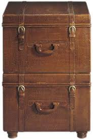 Filing Cabinet For Home - leather suitcase file cabinets apartment therapy
