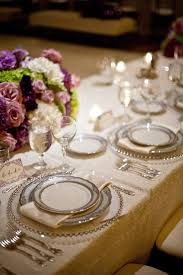 silver wedding plates reception décor photos silver rimmed place setting inside weddings