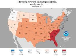 temperature map usa january u s during half of 2017 garryrogers nature conservation
