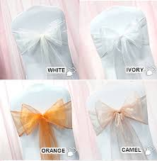 Chair Sashes Chair Sashes White Ivory Peach 10 Pack Weddingoutlet Com Au