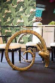 Brass Rams Head Dining Table Hollywood Regency Dining Room - Regency dining room