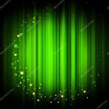 vector green abstract background with gold lights stock vector