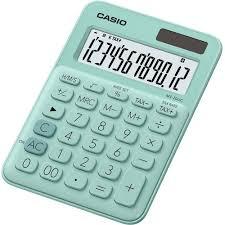 le de bureau à pile calculatrice de bureau casio ms 20uc vert solaire à pile s sur le