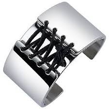 stainless steel cuff bracelet images Zoppini zo dark corset lacing stainless steel cuff bracelet at