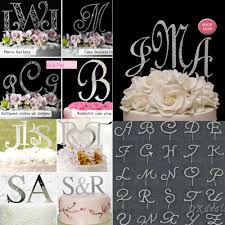 letter wedding cake toppers alphabet letter rhinestone monogram wedding cake topper