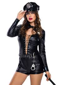 halloween costume robber wholesale stylish 6pcs female cop costume online