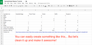 How To A Simple Spreadsheet Sheets 101 The Beginner S Guide To Spreadsheets