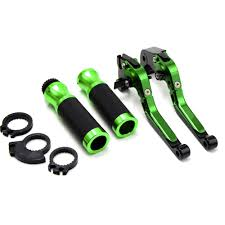 suzuki motorcycle green motorcycle accessories brake clutch levers handle bar handlebar